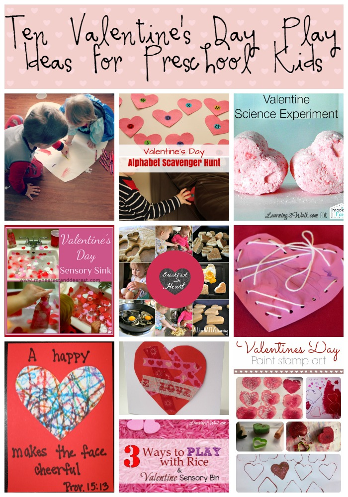 Ten Fun Valentine's Day Play Ideas for Preschool Kids
