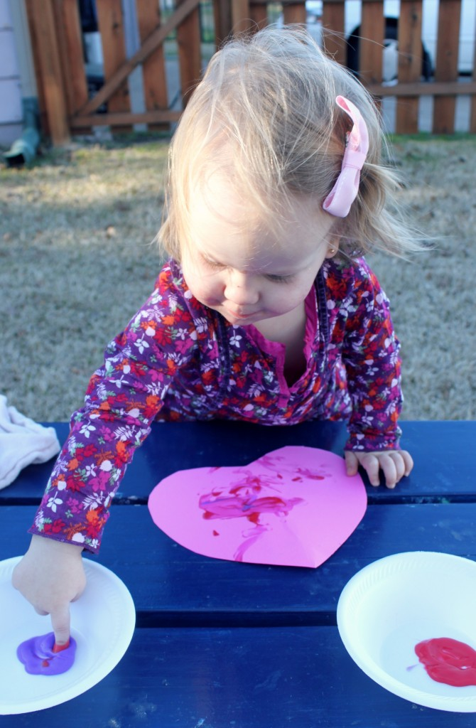 Toddler Painting for Valentine's Day