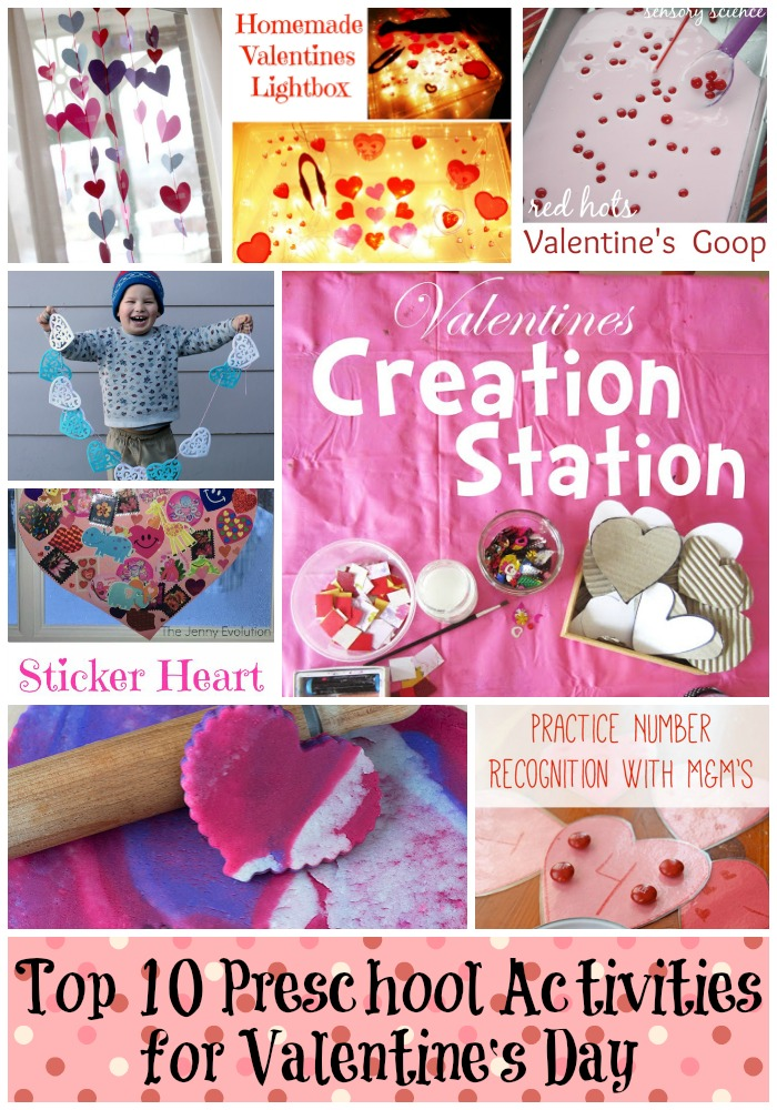 Top Ten Preschool Activities for Valentine's Day