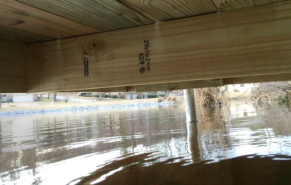 Underside of DIY Boat Dock