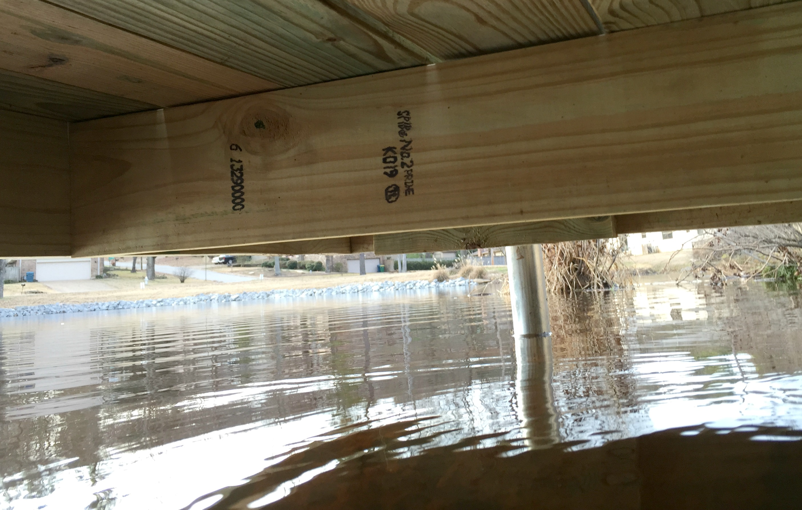how to build a wooden boat dock