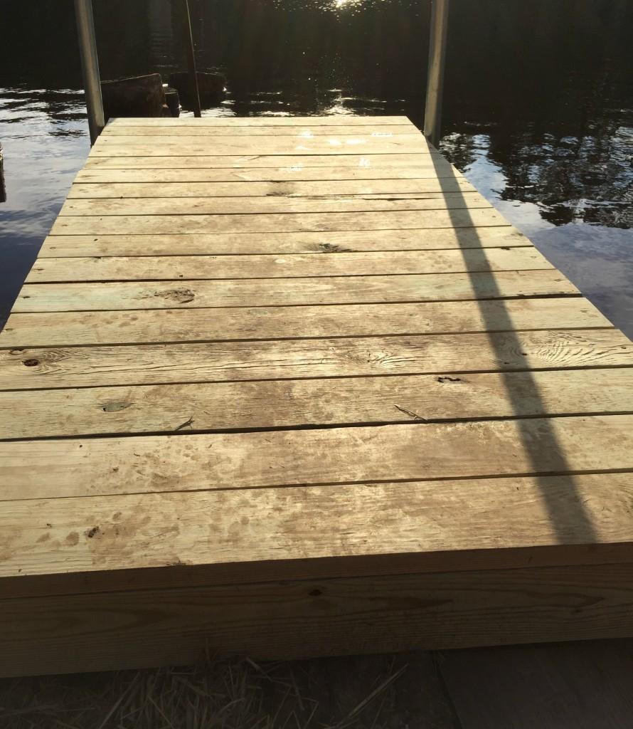 diy boat dock building