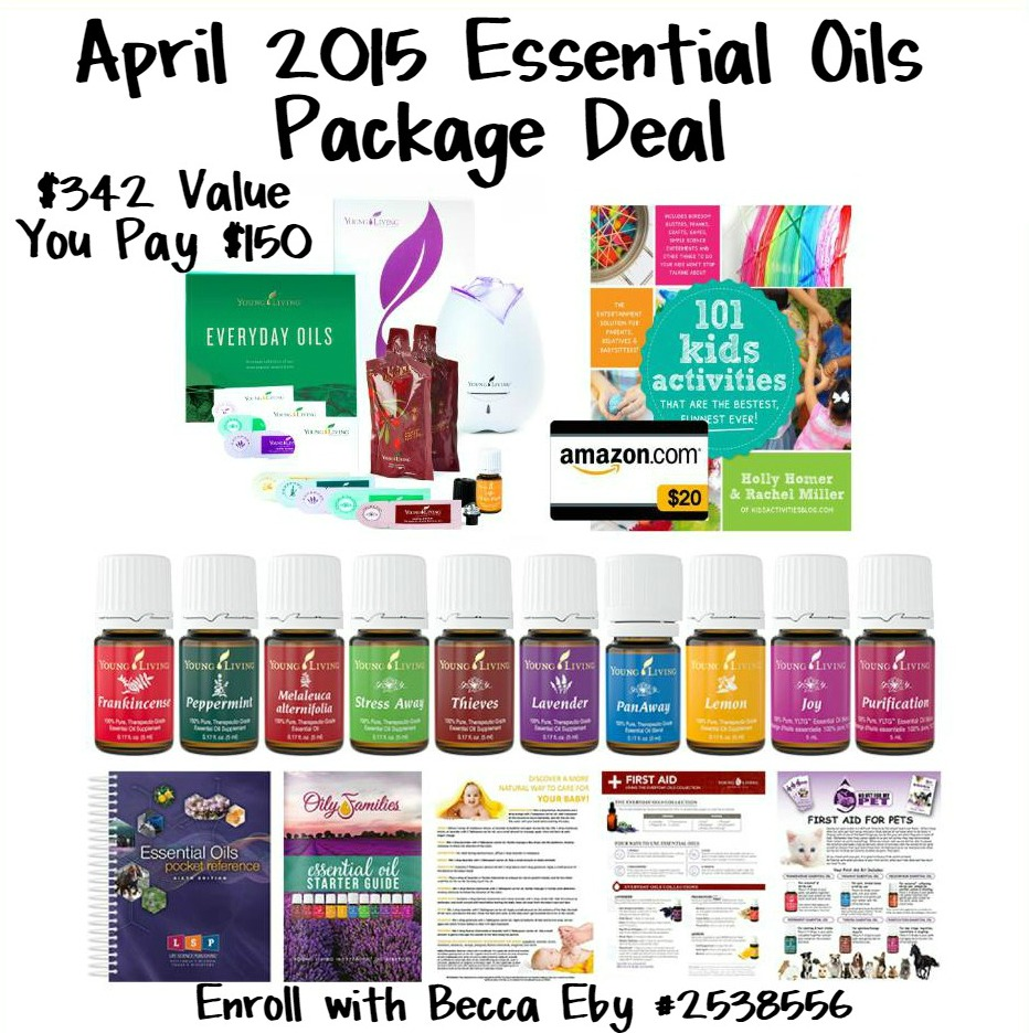 "Essential Oils Premium Starter Kit Deal with Code ""APRILSPECIAL"""