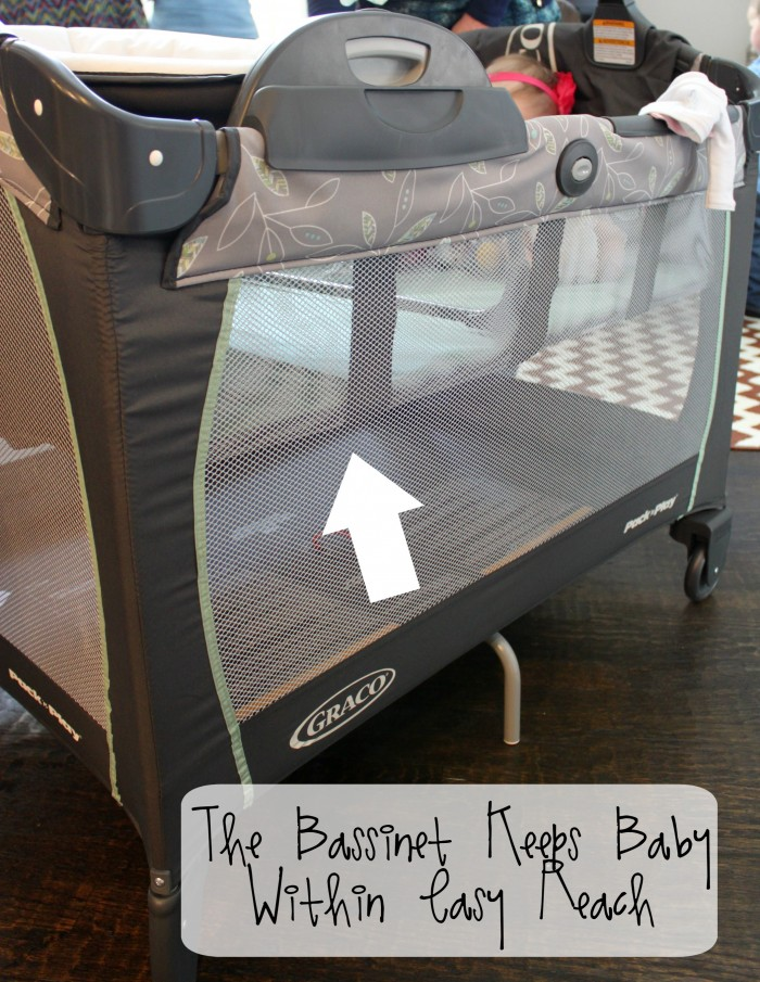 Bassinet Keeps Baby Close #AtHomewithGraco