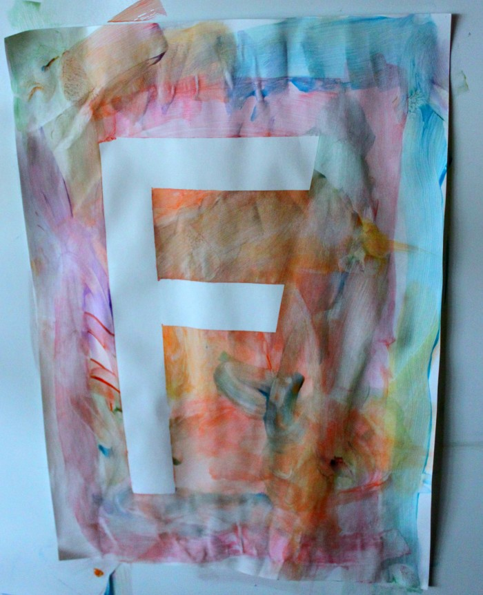 Creating Rainbow Resist Art Paintings with Preschoolers
