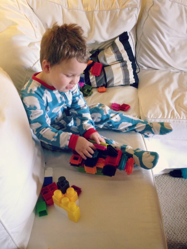 Encourage quiet activities when kids are sick