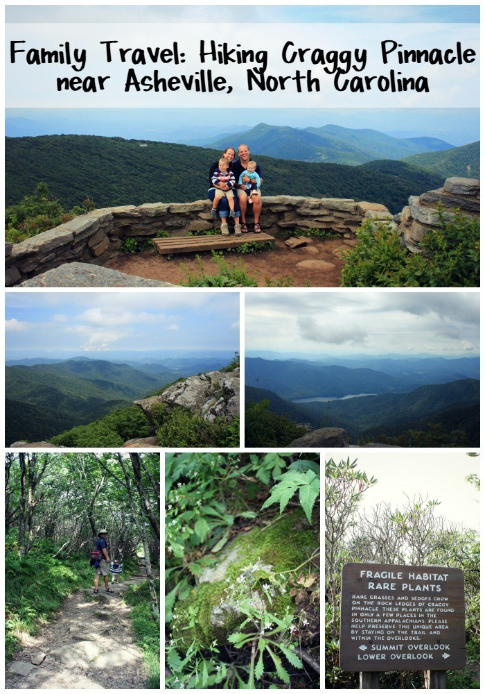 Family Travel Hiking Craggy Pinnacle near Asheville, North Carolina with Kids