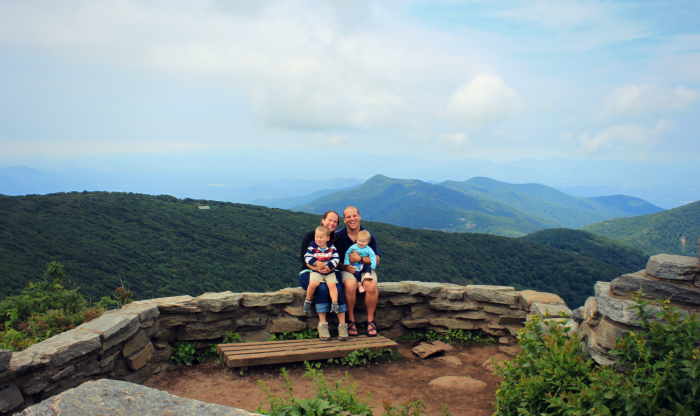 Hiking with Kids at Craggy Pinnacle near Asheville North Carolina