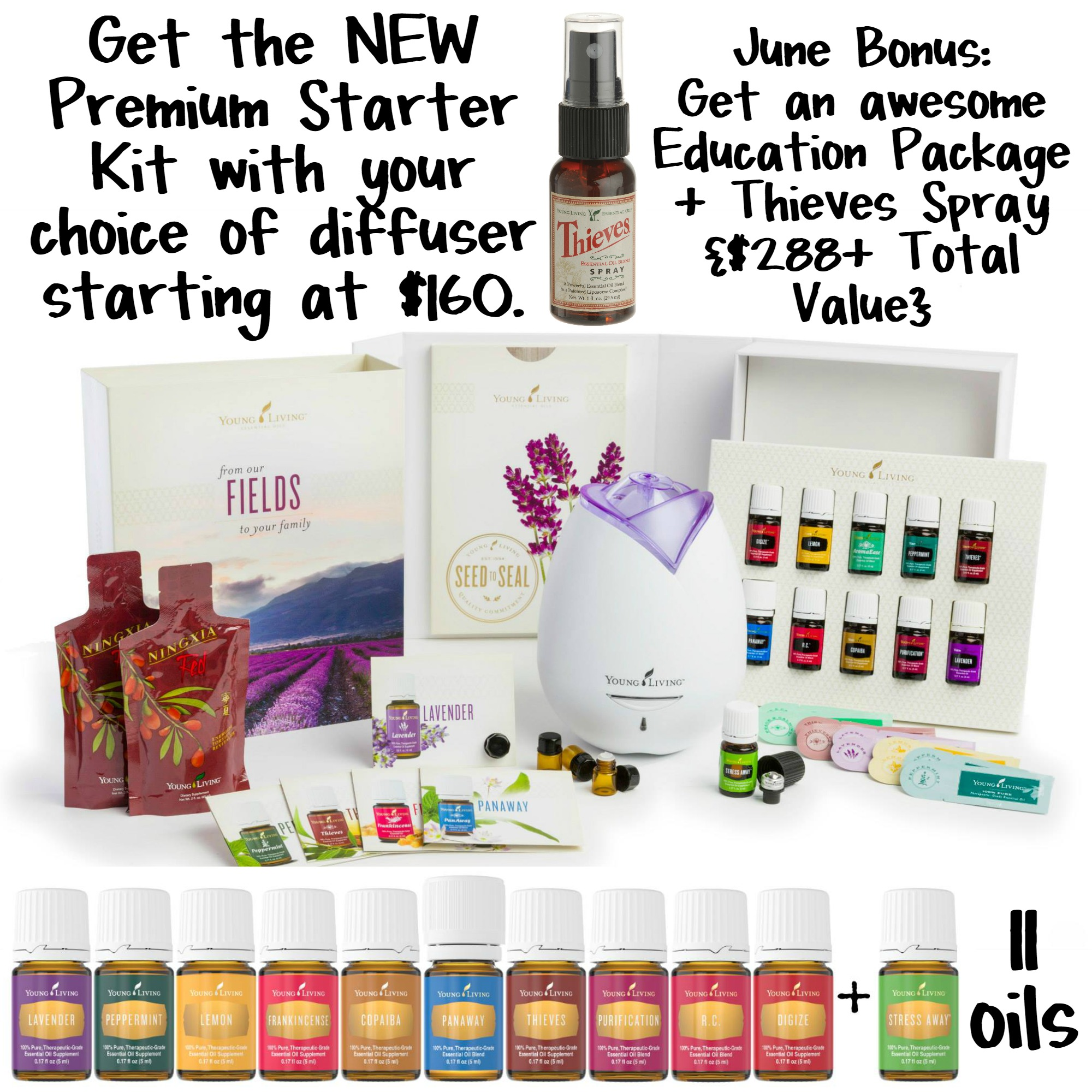 "Essential Oils Premium Starter Kit Deal with Code ""BIRTHDAY"""