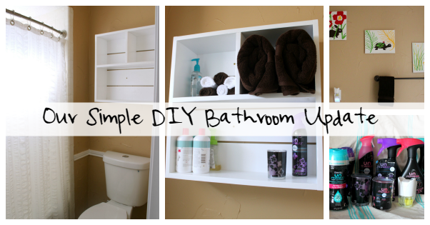 Our Simple DIY Bathroom Update #ScentDecor #Unstopables