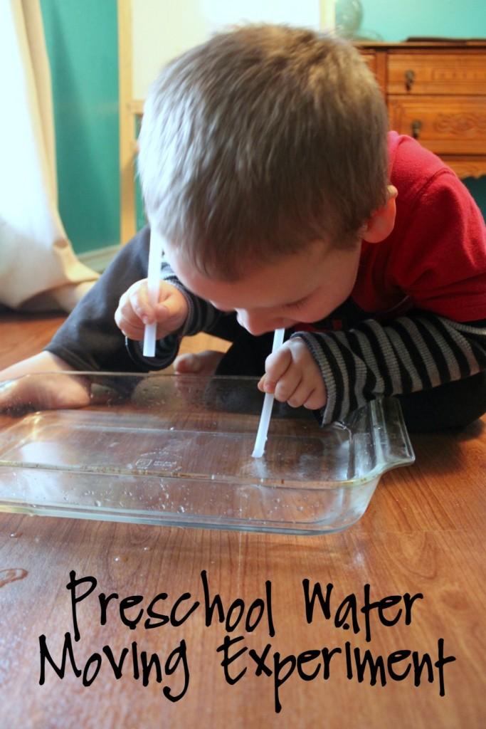 Preschool Water Moving Experiment