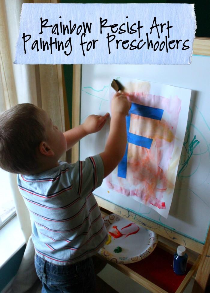 Rainbow Resist Art Painting for Preschoolers