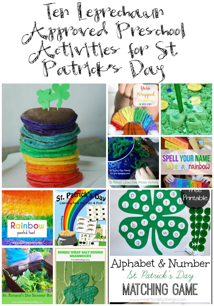 Ten Leprechaun Approved Preschool Activities for St. Patrick's Day