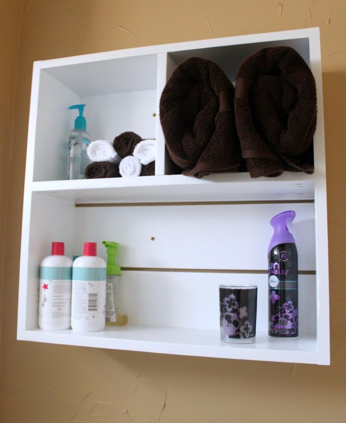 Utility Box Shelf for Bathroom with #ScentDecor