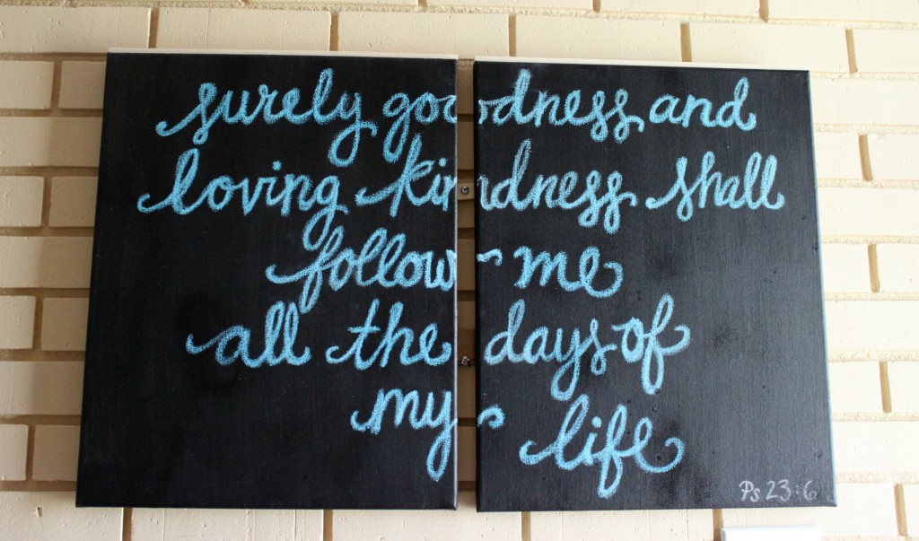 diy chalkboard painting