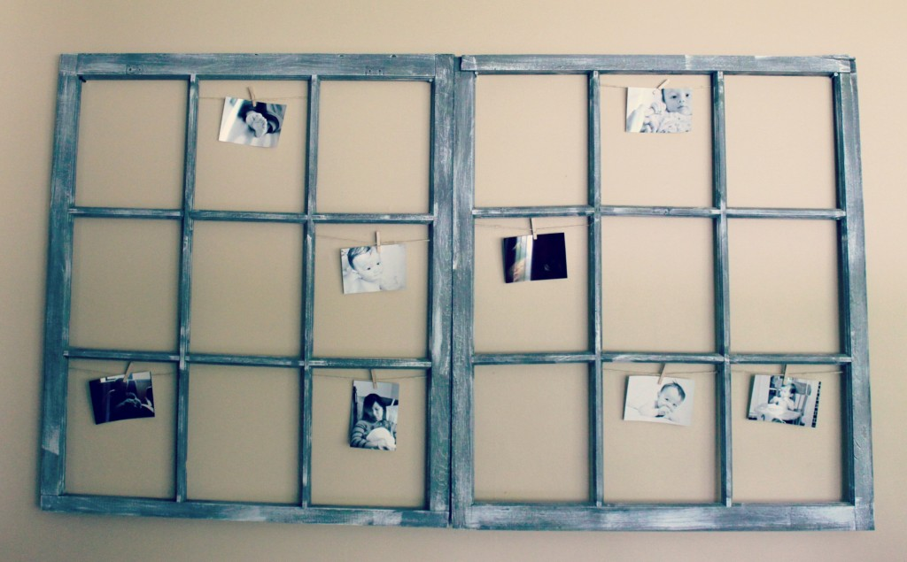 diy window photo display