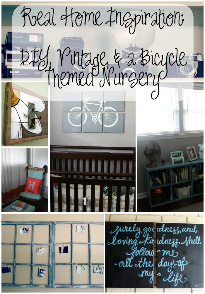 real home inspiration diy vintage bicycle themed nursery