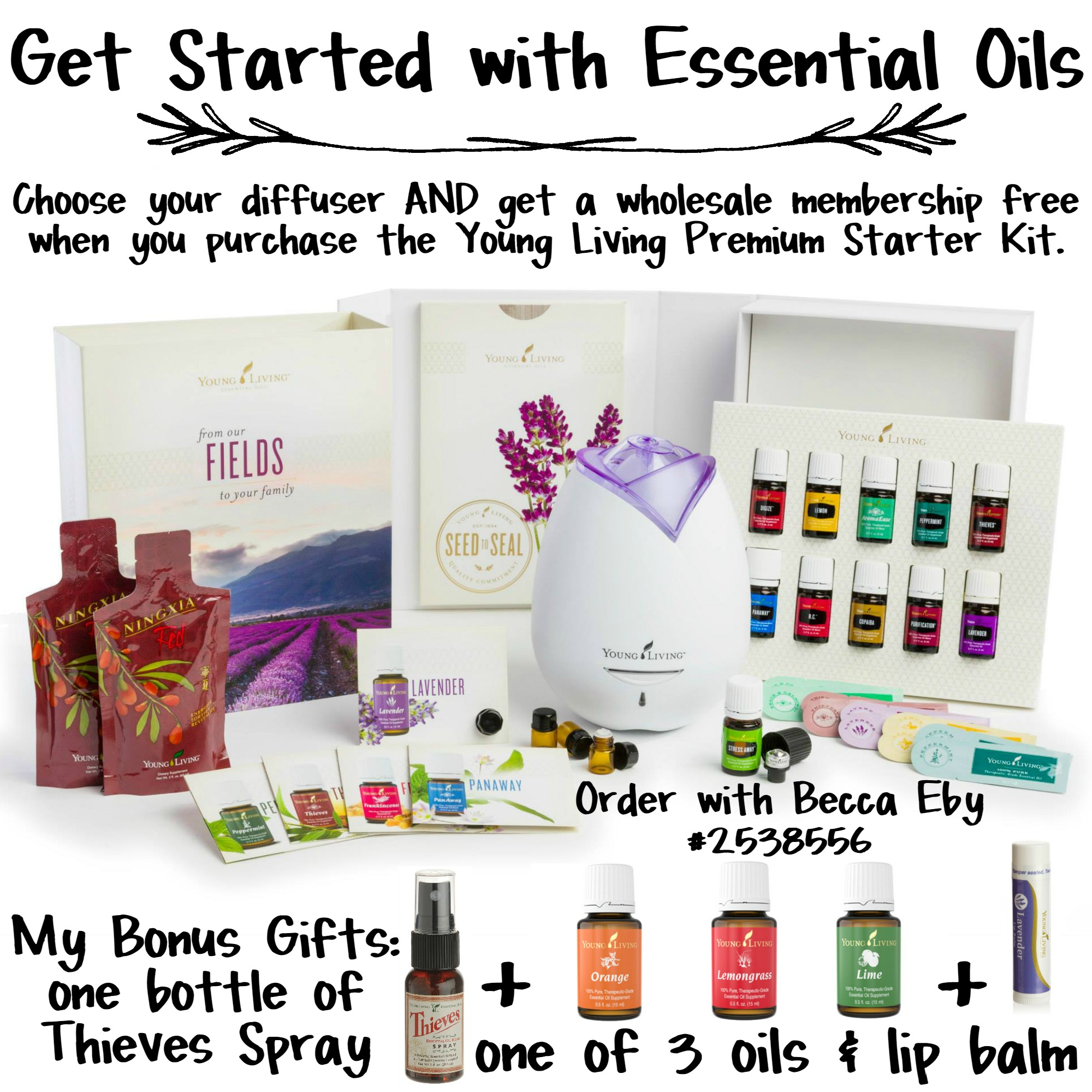 "Essential Oils Premium Starter Kit Deal with Code ""SUMMER"""