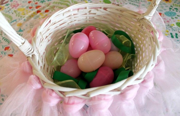 DIY Easter Basket Tutorial with Ribbon for Easter Grass