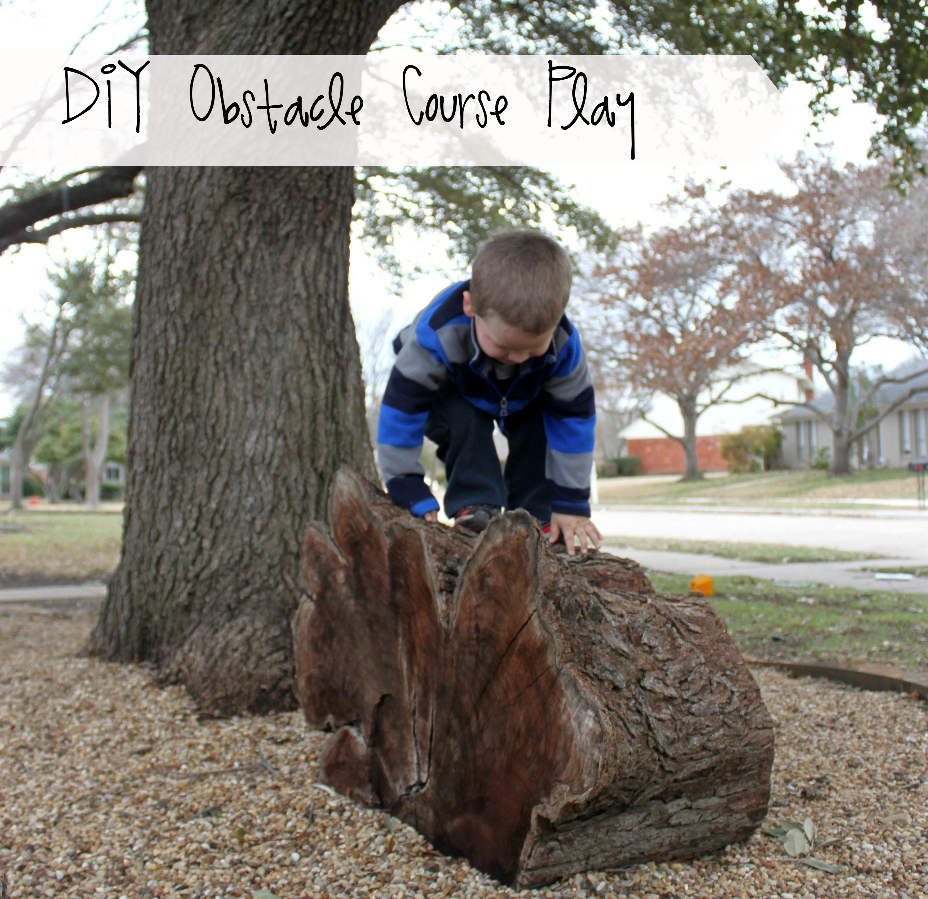 diy outdoor obstacle course play ideas for kids bare feet on the