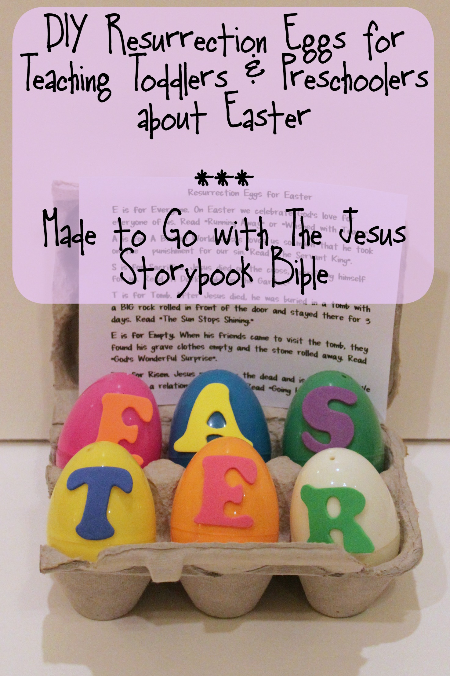 Diy Resurrection Eggs For Toddlers And Preschool Kids Bare Feet On