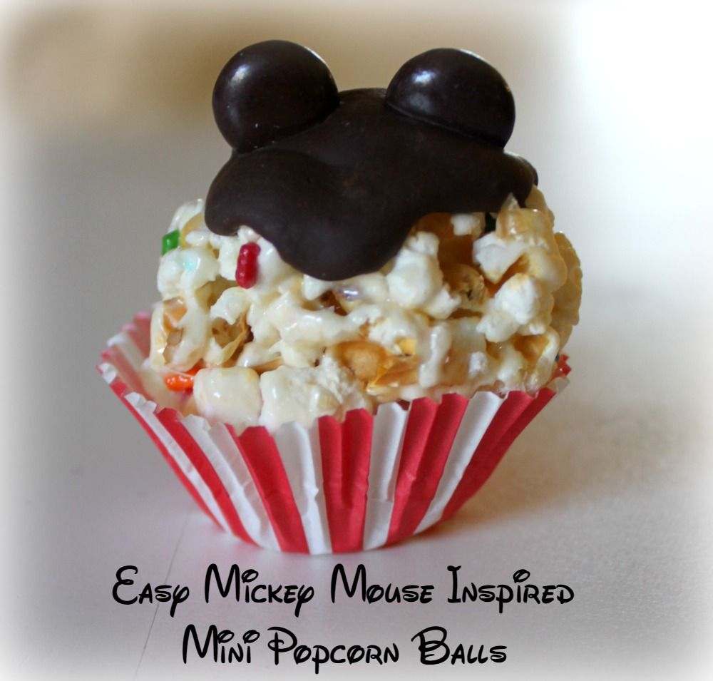 Easy Mickey Mouse Mini Popcorn Balls Bare Feet on the Dashboard