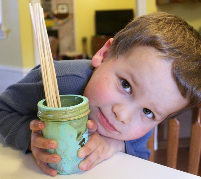 Kids Painting Mason Jar Scented Oil Reed Diffuser DIY