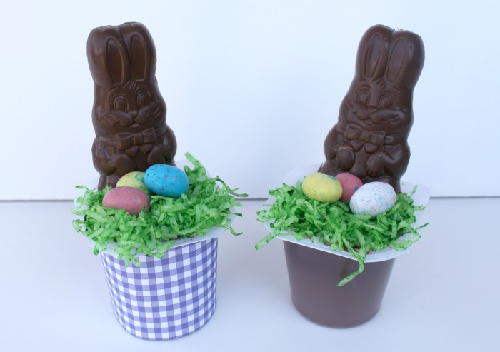 Make these cute Easter Pudding Cups for a Special Bunny Treat #SnackPackMixins #collectivebias #ad