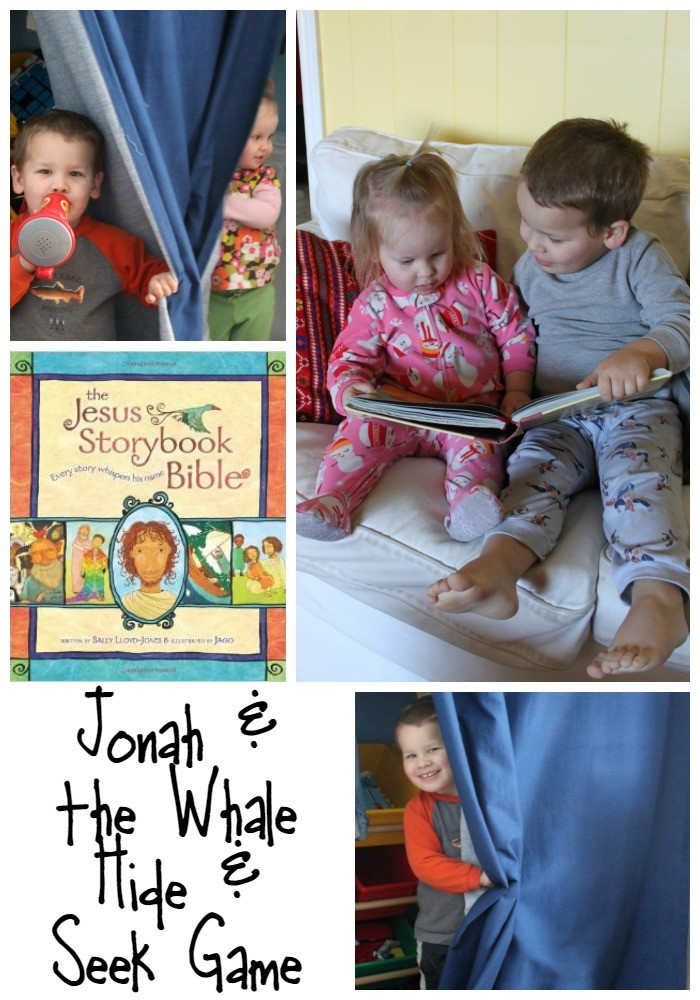 Playing a Special Game of Hide and Seek to Bring the Story of Jonah and the Whale to Life for Kids