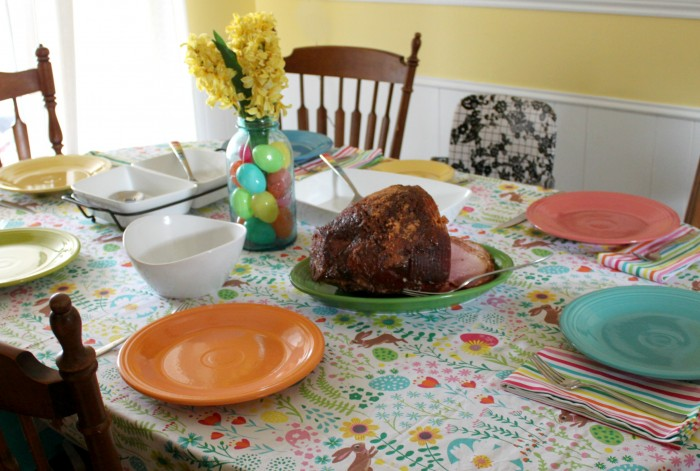 Setting a colorful table for your Easter dinner
