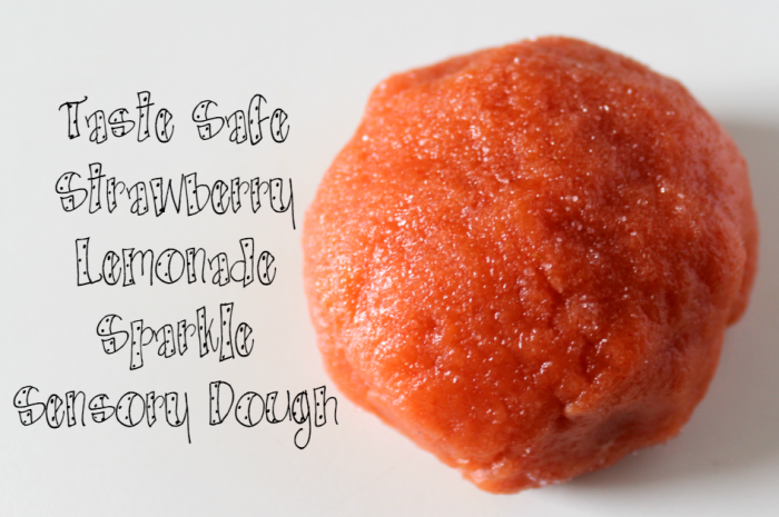 Taste Safe Strawberry Lemonade Sparkle Sensory Dough