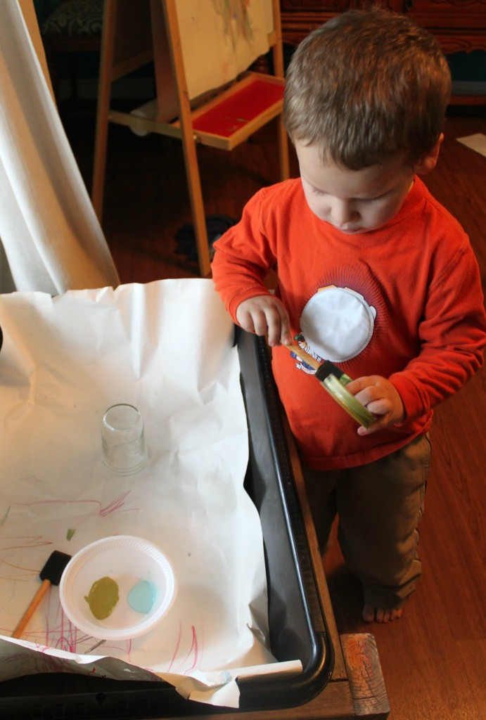 kid art painting a diy diffuser mason jar