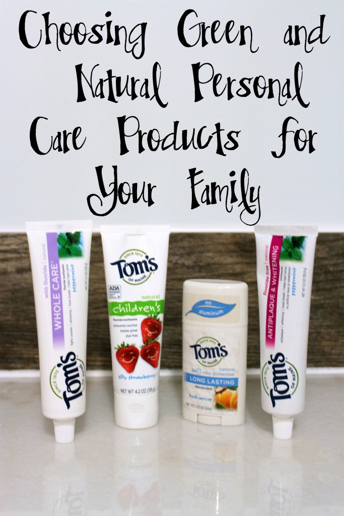 Choosing Green and Natural Personal Care Products for Your Family #naturalgoodness #ad