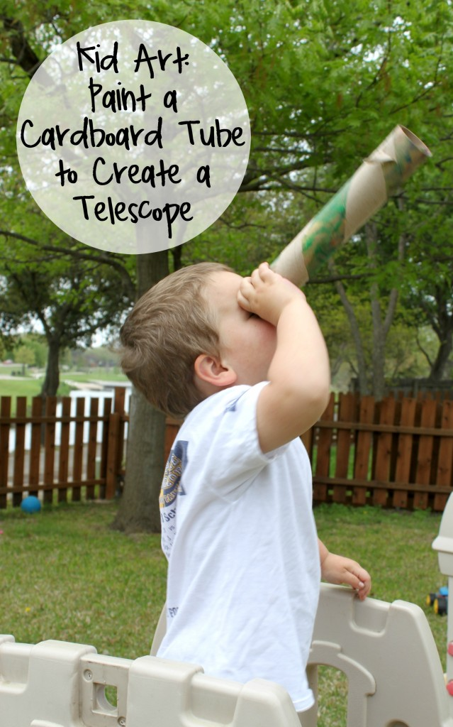 Kid Art Paint a Cardboard Tube to Create a Telescope