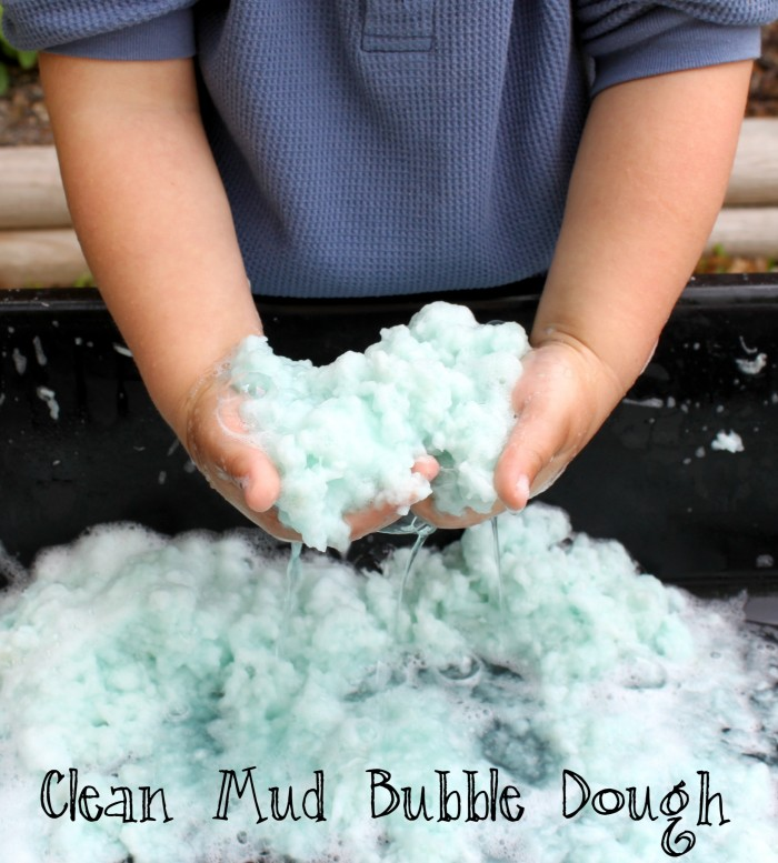 Making Clean Mud Bubble Dough with Kids - The Easiest Sensory Dough  Ever