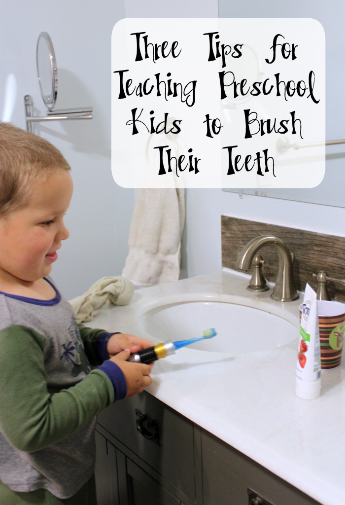 Three Tips for Teaching Preschool Kids to Brush Their Teeth #naturalgoodness #ad