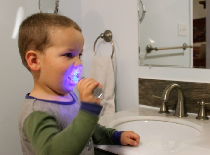 Brush your teeth with a light saber