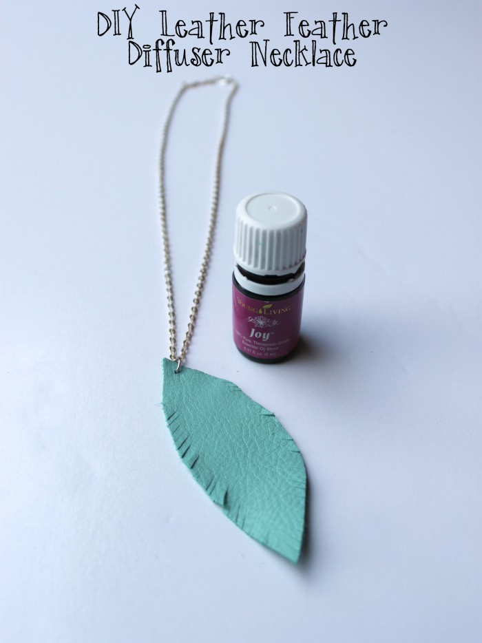 Create this simple DIY Leather Feather Diffuser necklace to wear your favorite essential oils