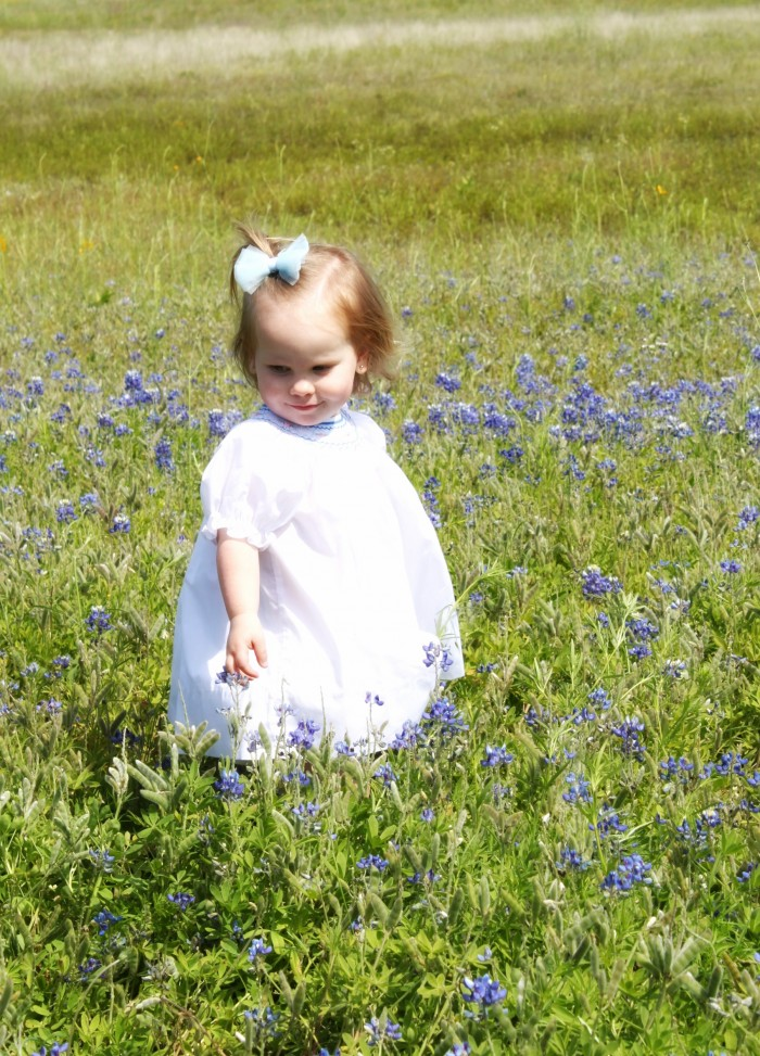 ellie in bluebonnets