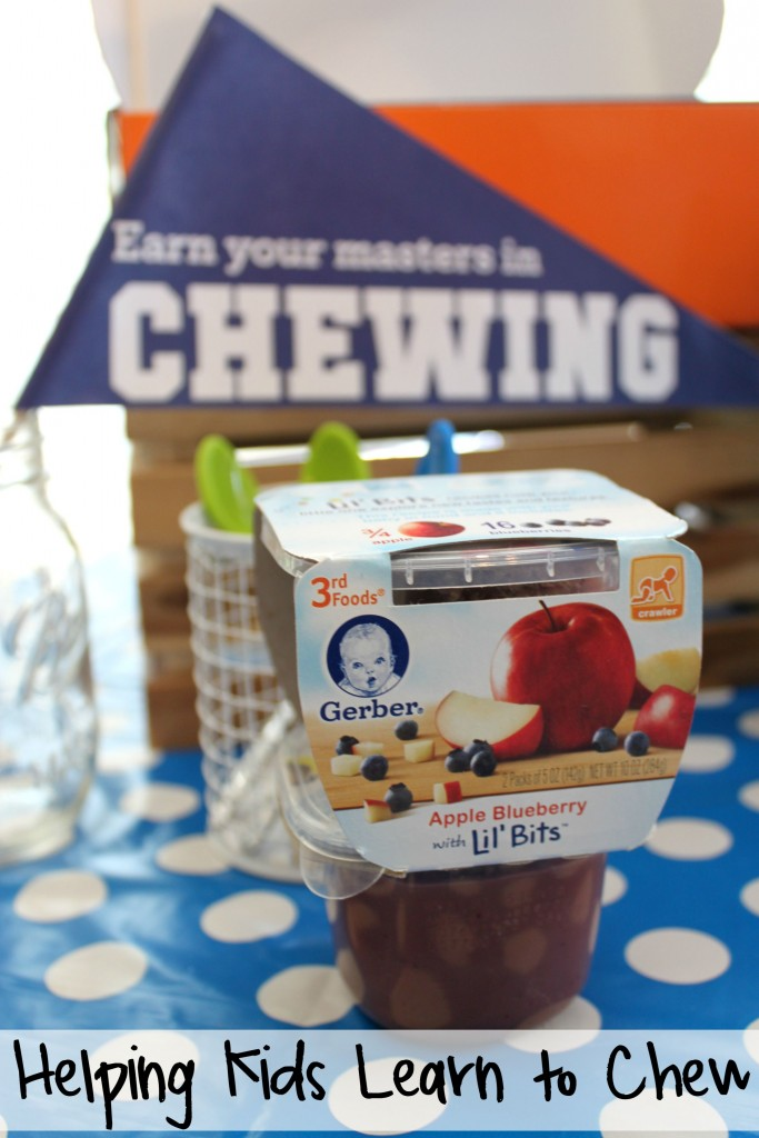 Helping Babies Learn to Chew with Gerber Lil' Bits