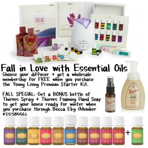 Essential Oils Fall Special Bonus
