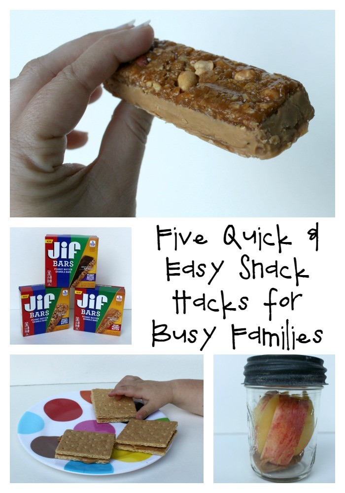 Five Quick and Easy Snack Hacks for Busy Families that are Peanut Butter Happy