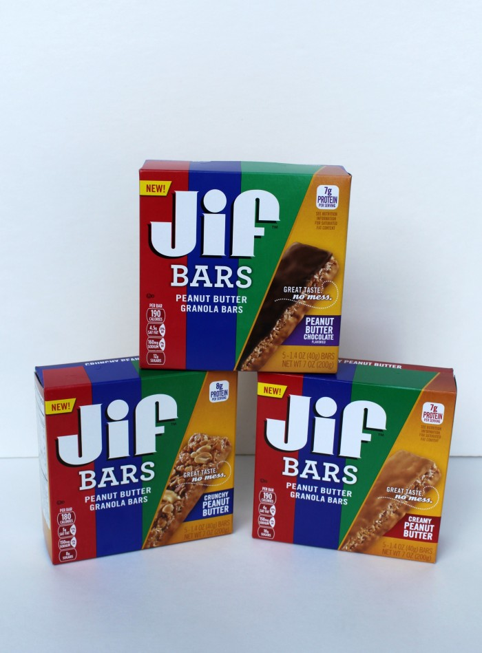 Jif Bars make a great on the go snack and are peanut butter happy
