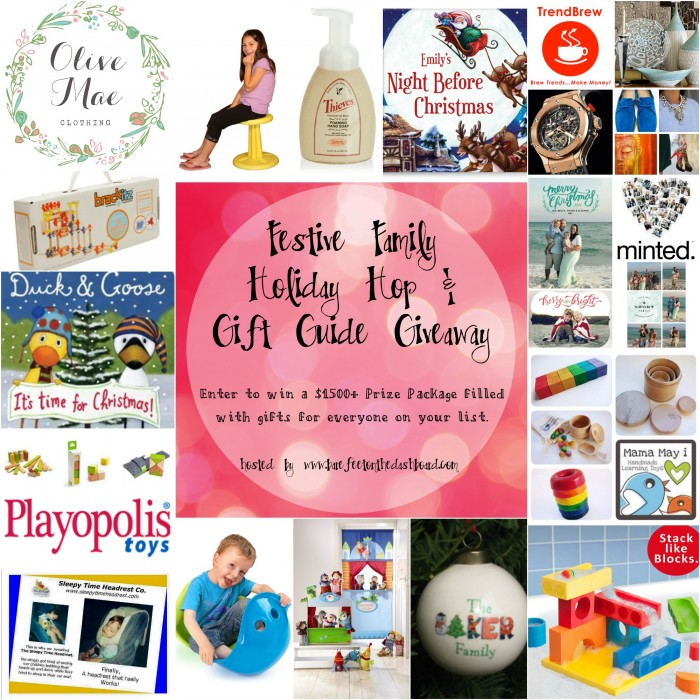 Festive Family Gift Guide Prize Collage
