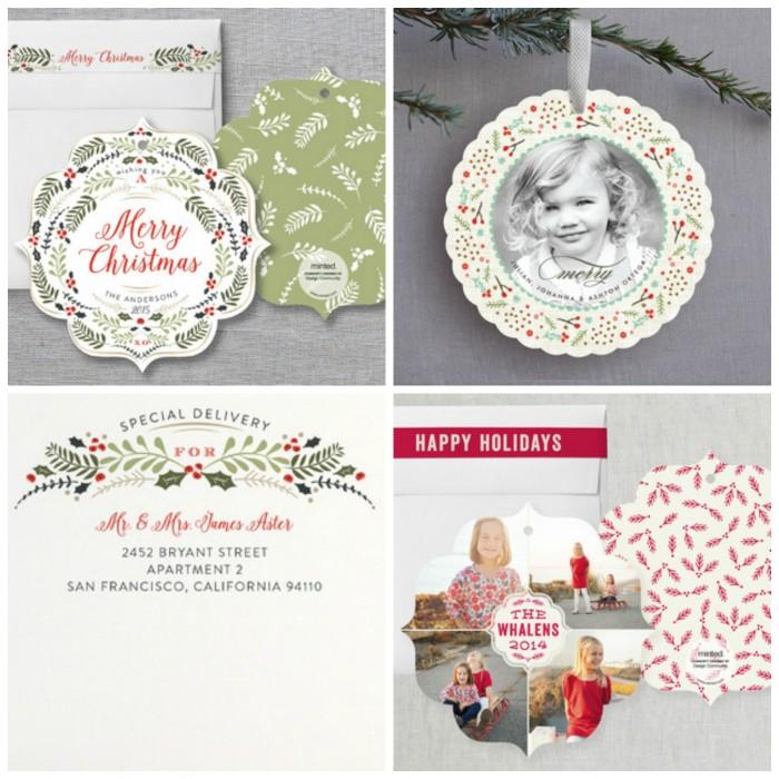ornament card collage